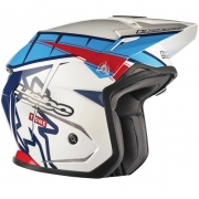 Hebo Zone 5 Polycarb Trials Helmet - T-One Blue White