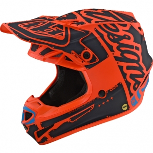 Troy Lee Designs SE4 Polyacrylite Helmet - Factory Matt Orange
