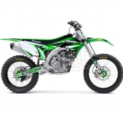 FLU Designs PTS 3 Kawasaki KX Graphics Kit
