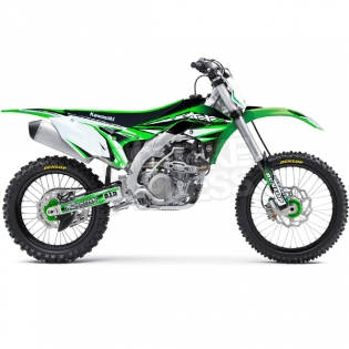 FLU Designs PTS 3 Kawasaki KXF Graphics Kit