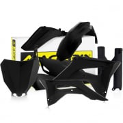 Acerbis Plastic Kit - Honda CR - Black