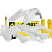 Acerbis Plastic Kit - Husqvarna TC - OEM White Yellow