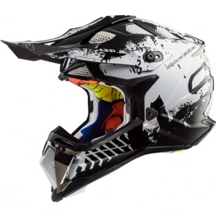 LS2 Subverter MX470 Helmet - Intruder Black White