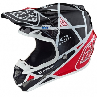 Troy Lee Designs SE4 Metric Carbon Helmet - Black Red