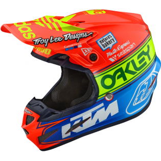 Troy Lee Designs SE4 Team Edition 2 Composite Helmet - Orange Blue