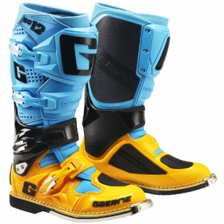 Gaerne SG12 Powder Blue Yellow Motocross Boots