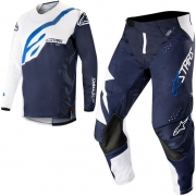 Alpinestars Techstar Factory Kit Combo - White Dark Navy