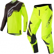 Alpinestars Techstar Factory Kit Combo - Black Yellow Fluo