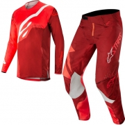 Alpinestars Techstar Factory Kit Combo - Red Burgundy