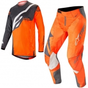 Alpinestars Techstar Factory Kit Combo - Anthracite Orange Fluo