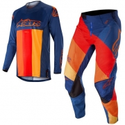 Alpinestars Techstar Venom Kit Combo - Dark Blue Red Tangerine