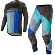 Alpinestars Techstar Venom Kit Combo - Black Turquoise Blue