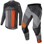 Alpinestars Techstar Venom Kit Combo - Anthracite Grey Orange Fluo