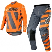 Alpinestars Racer Braap Kit Combo - Anthracite Orange Fluo Sand