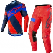 Alpinestars Racer Tech Atomic Kit Combo - Red Dark Navy Blue