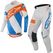 Alpinestars Racer Tech Atomic Kit Combo - Cool Grey Blue Org Fluo