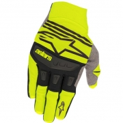Alpinestars Techstar Yellow Fluo Black Gloves