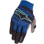 Alpinestars Techstar Black Turquoise Blue Gloves