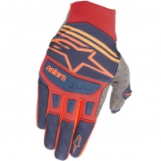 Alpinestars Techstar Dark Blue Red Tangerine Gloves