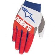 Alpinestars Racefend White Red Blue Gloves