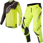 Alpinestars Kids Racer Factory Black Yellow Fluo Kit Combo