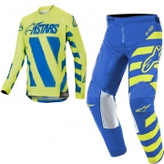 Alpinestars Kids Racer Braap Blue Yellow Fluo Kit Combo