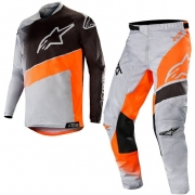 Alpinestars Kids Racer Supermatic Grey Orange Fluo Black Kit Combo