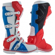 Acerbis X-Pro V Red Blue Motocross Boots