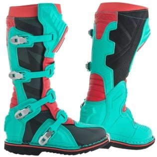 Acerbis X-Pro V Green Red Motocross Boots