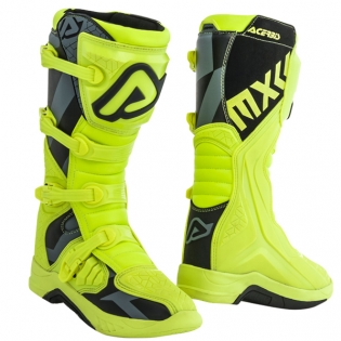 Acerbis X-Team Flo Yellow Black Motocross Boots