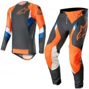 Alpinestars SuperTech Anthracite Orange Fluo Kit Combo