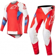 Alpinestars SuperTech Red White Kit Combo