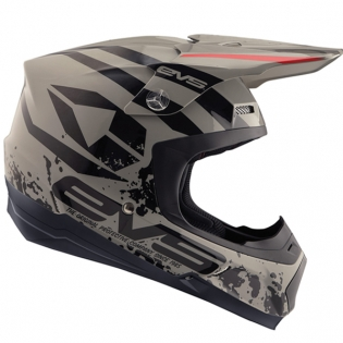EVS T5 Grappler Grey Helmet