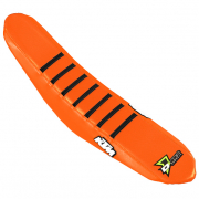 D Cor KTM Gripper Factory Rib Orange Orange Black Seat Cover