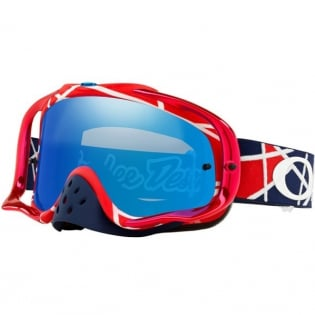 Oakley Crowbar Troy Lee Sig Metric Red Wht Blk Ice Iridium Goggles