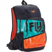 Fly Racing Jump Teal Orange Backpack