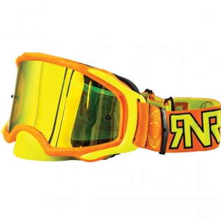 Rip n Roll Platinum Neon Orange Goggles