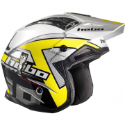 Hebo Zone 4 Fibre Kontrox Yellow Trials Helmet