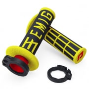 ODI EMIG Racing Lock On Black Yellow Motocross Grips