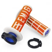 ODI EMIG Racing Lock On Orange White Motocross Grips