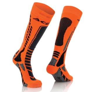 Acerbis Pro Black Orange  Motocross Socks
