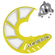 Acerbis X-Brake Front Vented Yellow Disc Protector - Incl Mount
