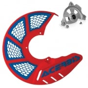 Acerbis X-Brake Front Vented Red Blue Disc Protector - Incl Mount