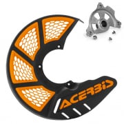 Acerbis X-Brake Mini Front Black Orange Disc Protector - Incl Mount