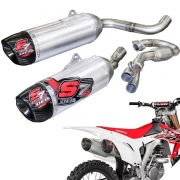 DEP S7R Carbon Honda CRF 450R 2013-2014 Twin Exhaust System
