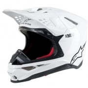 Alpinestars Supertech SM10 Solid White Gloss Helmet