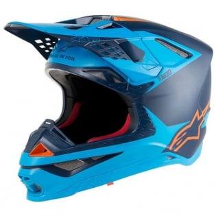 Alpinestars Supertech SM10 Meta Black Aqua Orange Helmet