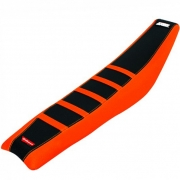 Polisport Zebra Rib KTM Orange Black Seat Cover