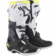 Alpinestars Tech 10 Black White Yellow Fluo 19 Boots