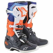 Alpinestars Tech 10 Cool Grey Orange Fluo Blue Wht 19 Boots